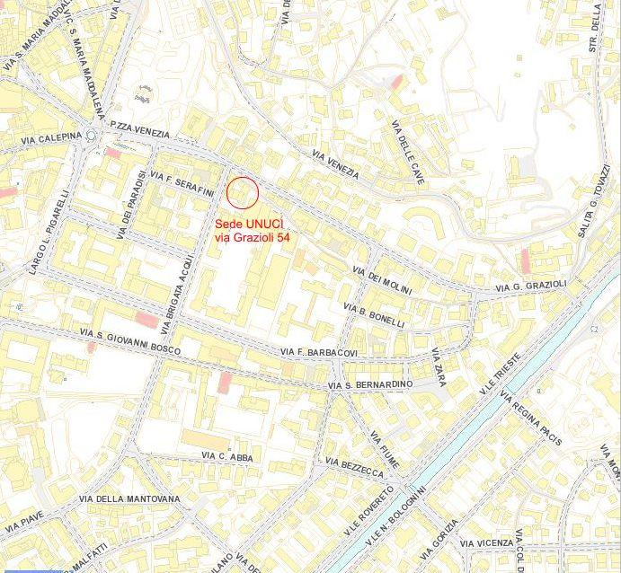 Localizzazione della sede della Sezione