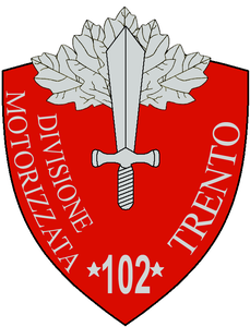 """Stemma della 102ª Divisione motorizzata """"Trento"""""""